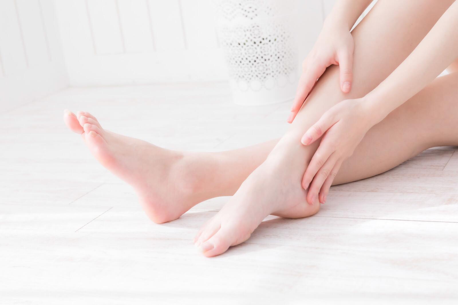 脱毛済みの手足