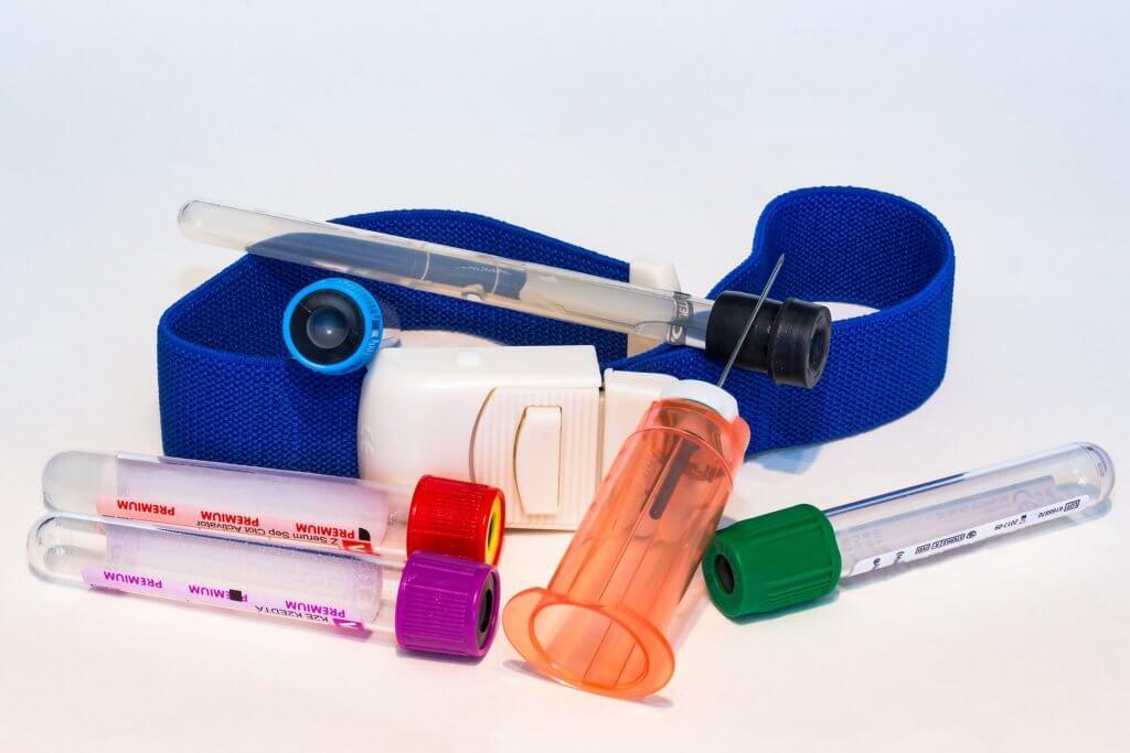 献血センター看護師の採血セット